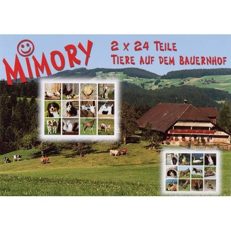MIMORY Animaux de la Ferme, jeu de mémory pour enfants