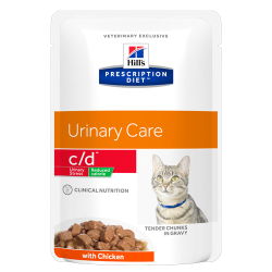 Hill's Prescription Diet Feline c/d Urinary Stress Reduced Calorie - Aliment humide en sachets