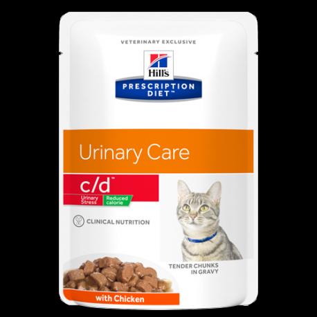 Hill's Prescription Diet Feline c/d Urinary Stress Reduced Calorie - Aliment humide en sachets