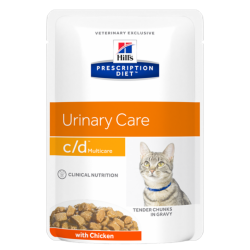 Hill's Prescription Diet Feline c/d Urinary Multicare - Aliment humide en sachet