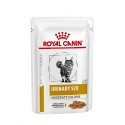 PROMO Royal Canin Veterinary Diet Urinary S/O Moderate Calorie chat - Aliment humide en sachets