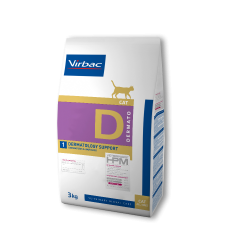 Virbac Veterinary HPM Cat Dermato D1 Dermatology Support