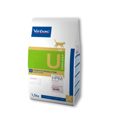 Virbac Veterinary HPM Cat Urology U1 Struvite Dissolution