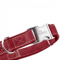 Hunter Cannes Alu-Strong collier en cuir pour chien, rouge