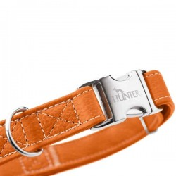 Hunter Cannes Alu-Strong collier en cuir pour chien, orange