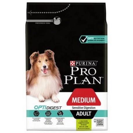 PROMO Purina ProPlan Medium Adult Sensitive Digestion lamb OPTIDIGEST