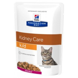 PROMO Hill's Prescription Diet Feline k/d Tender Chunks in Gravy - aliment humide en sachets