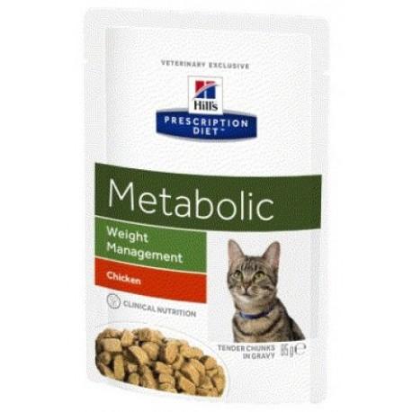 PROMO Hill's Prescription Diet Feline Metabolic Weight Management - Aliment humide en sachets