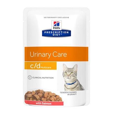 PROMO Hill's Prescription Diet Feline c/d Urinary Multicare - Aliment humide en sachet, au poulet