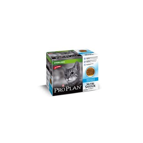 Purina ProPlan Nutrisavour Sterilised Cat cod / cabillaud - aliment humide en sachet