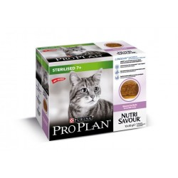 Purina ProPlan Nutrisavour Sterilised Adult 7+ turkey - aliment humide en sachet