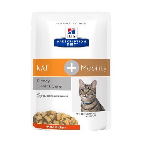 PROMO Hill's Prescription Diet Feline k/d + Mobility Tender Chunks in Gravy - aliment humide en sachets