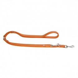 Hunter Cannes laisse réglable en cuir pour chien, orange