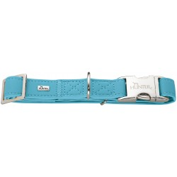 Hunter Softie Alu-Strong collier imitation cuir pour chien, turquoise