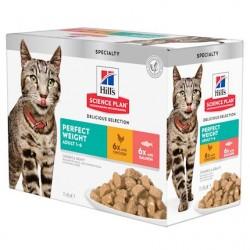 Hill's Science Plan Feline Perfect Weight poulet et saumon - aliment humide en sachet