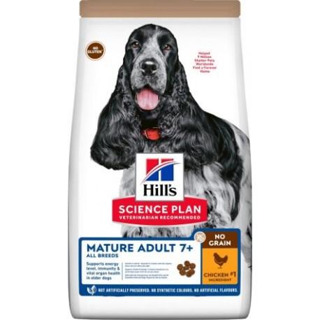 Hill's Science Plan Canine Mature 7+ Dog NO GRAIN au poulet