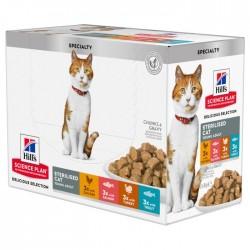Hill's Science Plan Feline Young Adult Sterilised Cat Multipack - aliment humide en sachet