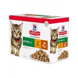 Hill's Science Plan Feline Kitten Multipack chicken and turkey - aliment humide en sachet
