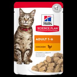 Hill's Science Plan Feline Adult with Chicken - aliment humide en sachet