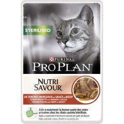 Purina ProPlan Nutrisavour Sterilised Cat beef - aliment humide en sachet