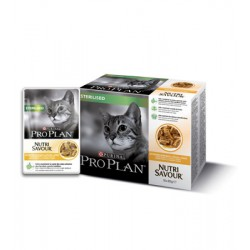 Purina ProPlan Nutrisavour Sterilised Cat chicken - aliment humide en sachet