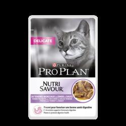 Purina ProPlan Nutrisavour Delicate Cat turkey - aliment humide en sachet