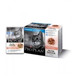 Purina ProPlan Nutrisavour Housecat salmon - aliment humide en sachet